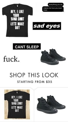 """Sad eyes."" by lexisalazar ❤ liked on Polyvore featuring Converse"