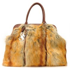 Donna Salyers' Fabulous-Furs Faux Fur Weekender Tote Bag