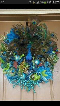 Beautiful Peacock wreath