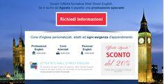 #wallstreetsalerno scuole di lingue salerno promo del mese
