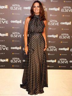 premiocontigo201448, vestido de poá, douts, Black, Luiza Brunet