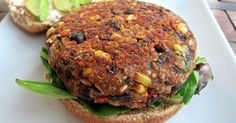 Black Bean Quinoa Burger- Kurbfood.com