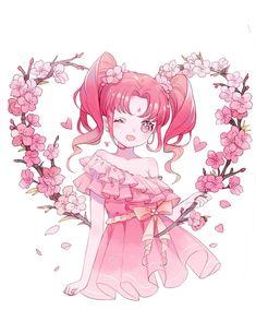 66 Ideas For Flowers Drawing Pink Fan Art Anime, Anime Art Girl, Manga Art, Manga Anime, Anime Girls, Loli Kawaii, Kawaii Art, Kawaii Anime Girl, Anime Girl Drawings