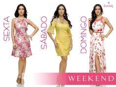 O fim de semana chegou e as novidades também! Se você não sabe o que usar, a Zunnck traz três vestidos maravilhosos de diferentes modelagens, cores e comprimento! Escolha o seu e arrase hoje, amanhã e depois! Boa tarde!