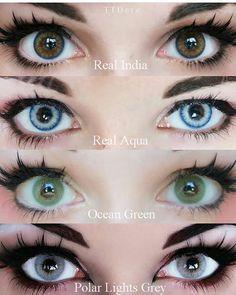 Eye contact lenses black