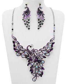 Beautiful purple peacock!