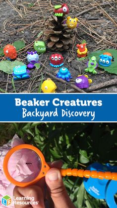 Beaker Creatures Backyard Discovery! - Learning Resources Blog Toddler Scavenger Hunt, Like Animals, Learning Resources, Discovery, Finding Yourself, Arts And Crafts, Creatures, Backyard, Planets