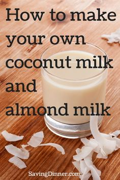 Saving Dinner: making your own coconut milk and then making coconut flour out of leftovers