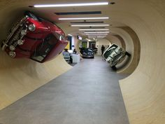 Autotrader's new London offices with a subtle nod towards the original Italian Job movie.