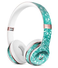 Turquoise Unfoced Glimmer DesignSkinz Full-Body Skin Kit for The Beats by Dre Solo 3 Wireless Headphones/Ultra-Thin/Matte Finished/Protective Skin Wrap Cute Headphones, Bluetooth Headphones, Accessoires Iphone, Beats By Dre, Gaming Headset, Iphone Accessories, Cool Things To Buy, Stuff To Buy, Mint