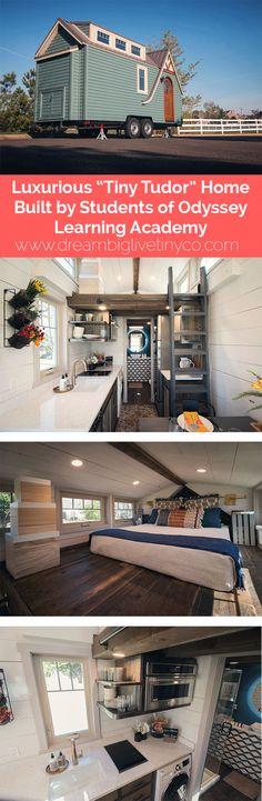 "Luxurious ""Tiny Tudor"" Home Built by Students of Odyssey Leadership Academy"