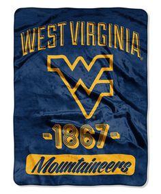 Look at this #zulilyfind! West Virginia Mountaineers Varsity Raschel Throw #zulilyfinds