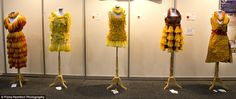 The eye-catching and quirky dresses are currently on display at the International AIDS con. Hiv Prevention, Fashion Design For Kids, Fashion Designer, Dress Making, Conference, Melbourne, Gowns, Display, Couture