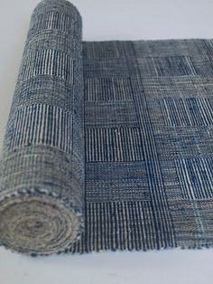 """Rafts Moon' (Moon night) by by Japanese handweaver Harue Nishikawa. Handwoven Japanese sash/belt for Kimono. via the artist's site Textile Cocoon Textile Design, Textile Art, Fabric Design, Pattern Design, Japanese Textiles, Japanese Fabric, Textile Texture, Weaving Textiles, Weaving Projects"