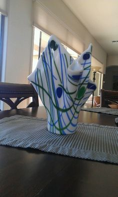Fused glass vase by Lisa Campanella