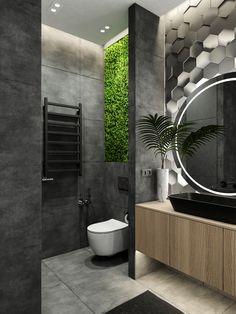 Home Building Design, Home Room Design, Home Interior Design, Bathroom Design Luxury, Modern Bathroom Design, Wc Design, Bathroom Design Inspiration, Dream Bathrooms, Concrete Bathroom