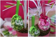 Tutorial: DIY Flower Easter Eggs on http://pizzazzerie.com