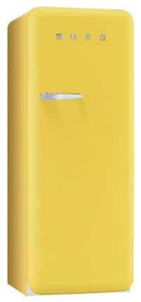 Yellow retro-style refrigerator would be a super-cool addition to your kitchen...pun intended!
