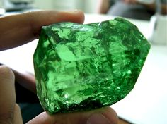 Tsavorite - The largest gem quality Tsavorite in the world was discovered near Arusha, Tanzania. The uncut stone weighed 185 grams and was examined by Dr. H. Hanni of Swiss Gemmological Institute . It was preformed and faceted by Multicolour Gems and certified by Dr. A. Peretti at the GRS Gemresearch Swisslab in Bangkok, Thailand. Measuring 42.11mm x 36.46mm x 28.34mm and weighing in at 325.13cts.