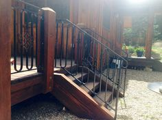Stair railing by Dal Leck from the shop of Moonlight Smithy
