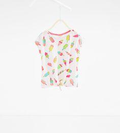 Ice-cream and pineapple T-shirt
