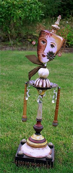 Garden art.....  I honestly didn't know where to put this but it is an amazing piece that looks to be made from repurposed items...