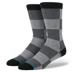 Welcome to your new favorite segment. Crafted from warp knit cashmere, Stance's Segment provides a smooth ride and soft hand. And thanks to cashmere's ability to regulate temperature, this sock is perfect for any season. A reinforced heel and toe enhance cushioning and durability. And to closely hug the contours of your feet, the Segment sports a deep heel pocket and self-adjusting cuff. $45