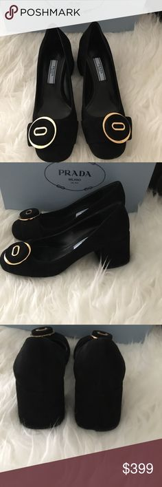 2741c05a002 Authentic NWT Prada Calzature Donna camoscio shoes Authentic NWT Prada  Calzature Donna camoscio with size 34.5
