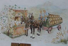 Il carro della birra Travagola Pedavena Feltre Belluno Dolomiti Veneto Italia