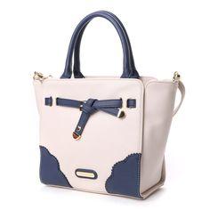 リズリサ LIZ LISA フレイル 配色2WAYミニトートバッグ (ネイビー) -靴とファッションの通販サイト ロコンド