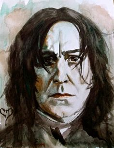 Snape Painting by Meoclew on Etsy, $30.00