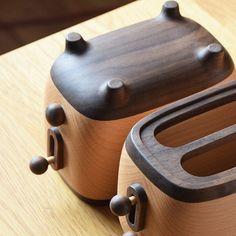 Handmade Wooden Retro Toaster Remote Control Storage Box   Etsy
