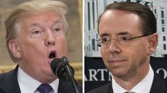 "President Trump has referred to deputy Attorney General Rod Rosenstein, who appointed Robert Mueller as the special counsel for the Russia probe, as ""a threat to his presidency,"" according to a report in The Washington Post."