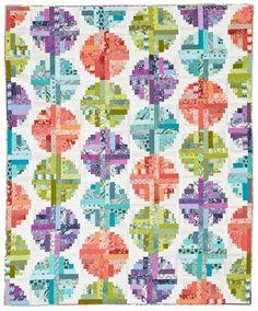 Log Cabin Beads Quilt Kit -  Quilt Sampler magazine; Spring/Summer 2014