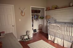 LOVE this rustic, simple nursery, but we might need something a little brighter?