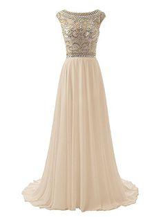c508b087707 SDRESS Womens Beaded Crystal Cap Sleeve Illusion Crewneck Prom Homecoming  Dress Champagne Plus Size 24