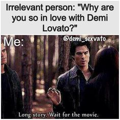 This is so incredibly perfect I can't.... demi + Damon!