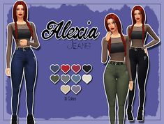 Alexia jeans at Kass • Sims 4 Updates