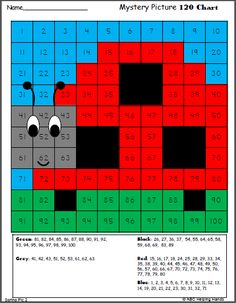 Hundreds Chart Math Mystery Picture – Spring Garden Ladybug