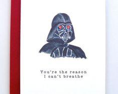 Darth Vader Sith Much Star Wars Valentine by SashaBellaDesigns
