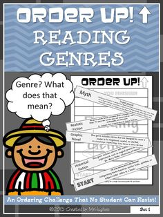 Reading Genres - Order Up! Reading Genres, Reading Skills, Teaching Reading, Reading Comprehension, Teaching Art, Teaching Resources, Teaching Ideas, Genre Study, 6th Grade Reading