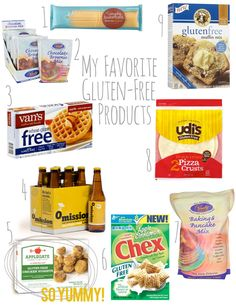 My top favorite gluten free products as of yet!