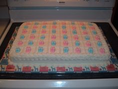 Baby Shower Sheet Cakes | Baby Shower Sheet Cake with Booties