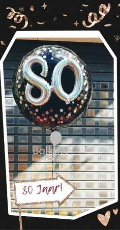 Geef een mooie helium ballon om een 80 jarig feestje te vieren Alleen af te halen in de winkel, Boeketten.nl, buurtwinkel centrum Galecop Ballon, Om