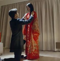 chinese wedding dress from Love 020 Asian Actors, Korean Actors, Yang Yang Zheng Shuang, Love 020, Yang Yang Actor, Wei Wei, Kdrama Memes, Chinese Movies, Boys Over Flowers
