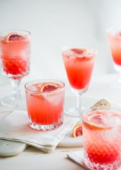 blood orange gin + tonic.