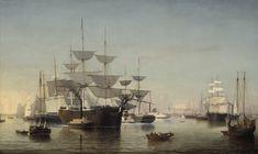 Fitz Henry Lane | New York Harbor, c.1855 (inv. 46) | Catalog entry