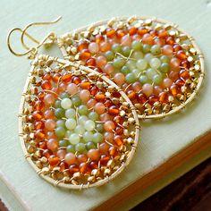 Teardrop Gemstone Earrings