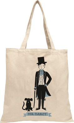 Gibbs Smith Tote Bag - Mr Darcy from Pride and Prejudice - Jane Austen