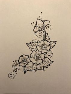 69 Best ideas for flowers design drawing doodles zen tangles – Henna 2020 Mandala Tattoo Design, Henna Tattoo Designs, Mandala Drawing, Mehndi Designs, Drawing Flowers, Flower Design Drawing, Henna Designs Drawing, Henna Flower Designs, Henna Doodle